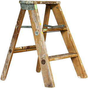 an old stepladder