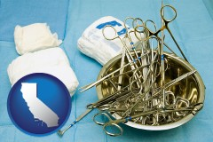 california surgical instruments and bandages