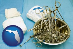 florida surgical instruments and bandages