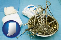 indiana surgical instruments and bandages