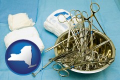new-york surgical instruments and bandages