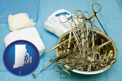 rhode-island surgical instruments and bandages