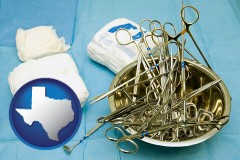 texas surgical instruments and bandages