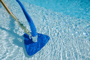 a swimming pool vacuum cleaner