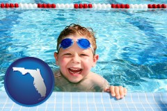 florida a boy in a swimming pool