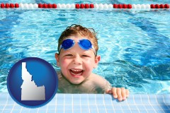 idaho a boy in a swimming pool