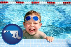 maryland a boy in a swimming pool