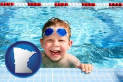 minnesota a boy in a swimming pool
