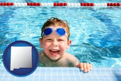new-mexico a boy in a swimming pool