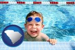 south-carolina a boy in a swimming pool