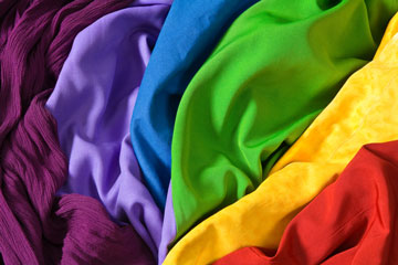 colorful textile fabrics