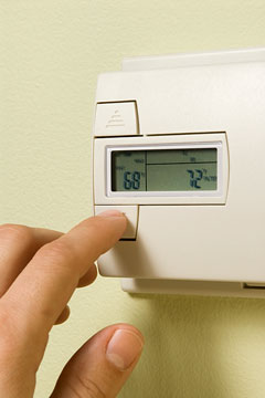 a heating system thermostat
