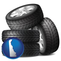delaware four tires with alloy wheels