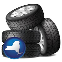 new-york four tires with alloy wheels