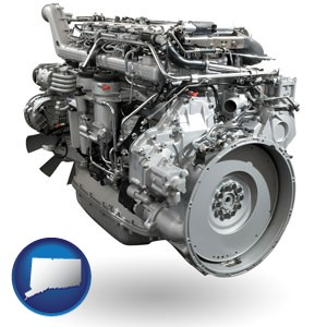 a truck engine - with Connecticut icon
