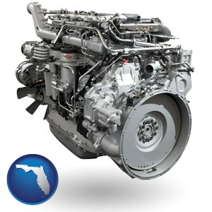 a truck engine - with Florida icon