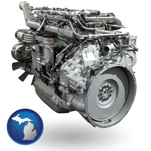 a truck engine - with Michigan icon