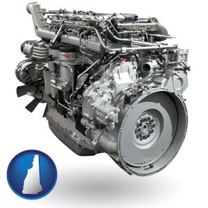 a truck engine - with New Hampshire icon