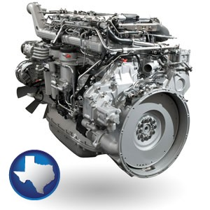 a truck engine - with Texas icon