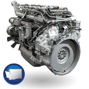 a truck engine - with Washington icon