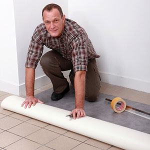 sheet vinyl flooring installation