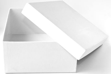 a white, paperboard box