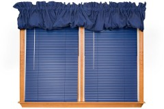 window blinds and valance curtains